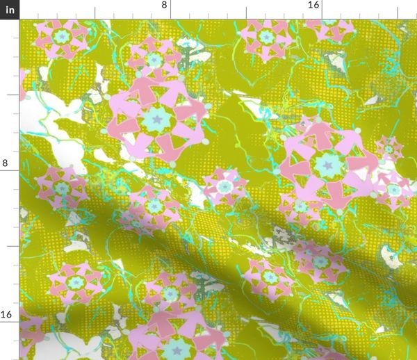 Fabric by the Yard DWG Passion Flower