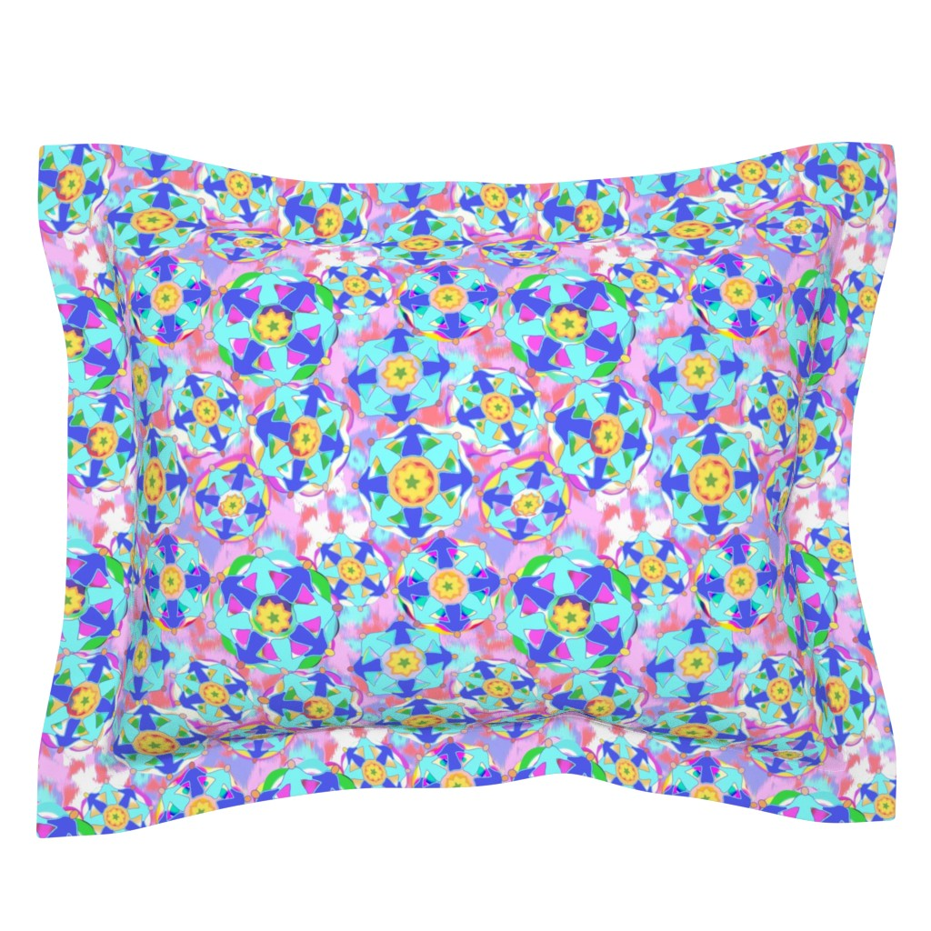 Sebright Pillow Sham featuring DWG Heart is a Jewel Box by bloomingwyldeiris