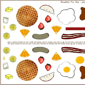 Breakfast for One; Play Food Set/Kit