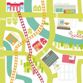 City map play rug