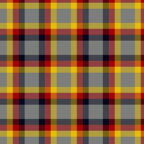 "Ikelman tartan #2 - 8"" yellow, red, black, grey"