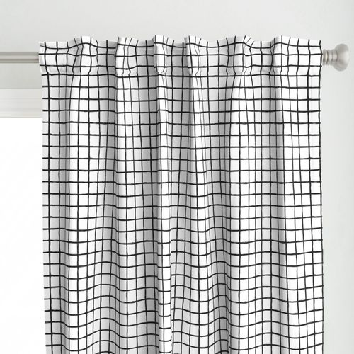Abstract Geometric Black And White Check Spoonflower