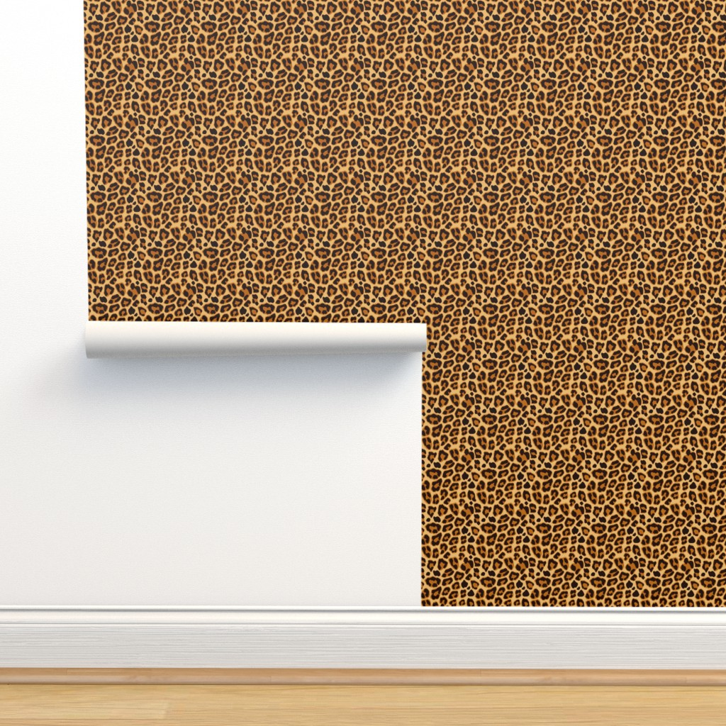 Isobar Durable Wallpaper featuring Leopard Pattern For Halloween Costume by furbuddy