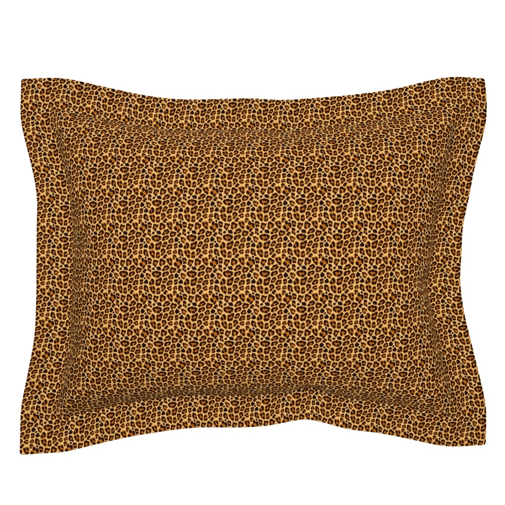 Sebright Pillow Sham featuring Leopard Pattern For Halloween Costume by furbuddy
