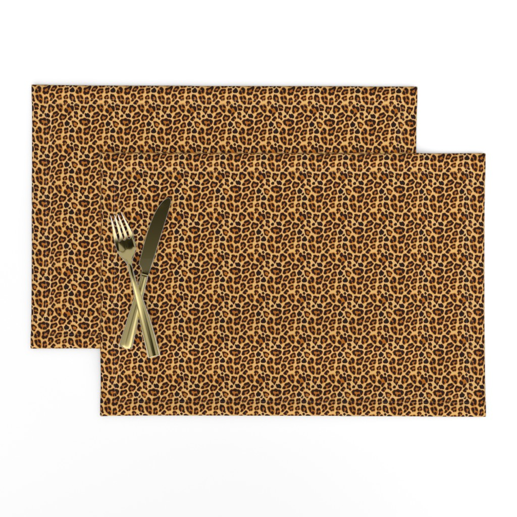 Lamona Cloth Placemats featuring Leopard Pattern For Halloween Costume by furbuddy