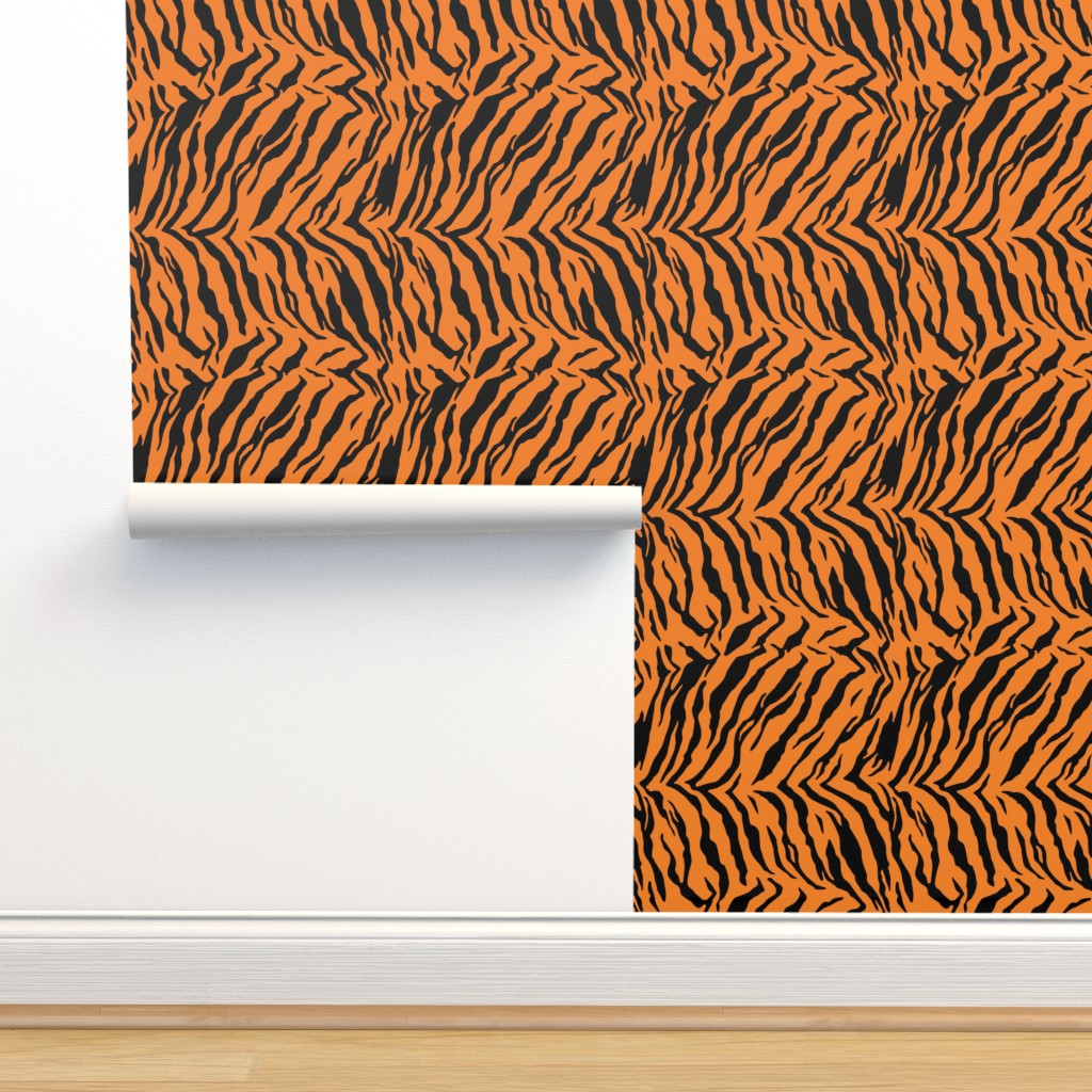 Isobar Durable Wallpaper featuring Tiger Halloween Costume Pattern by furbuddy