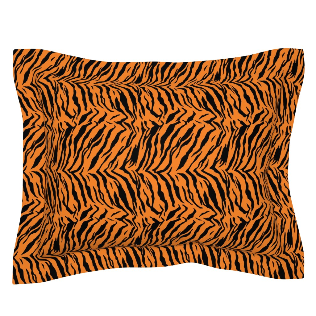 Sebright Pillow Sham featuring Tiger Halloween Costume Pattern by furbuddy