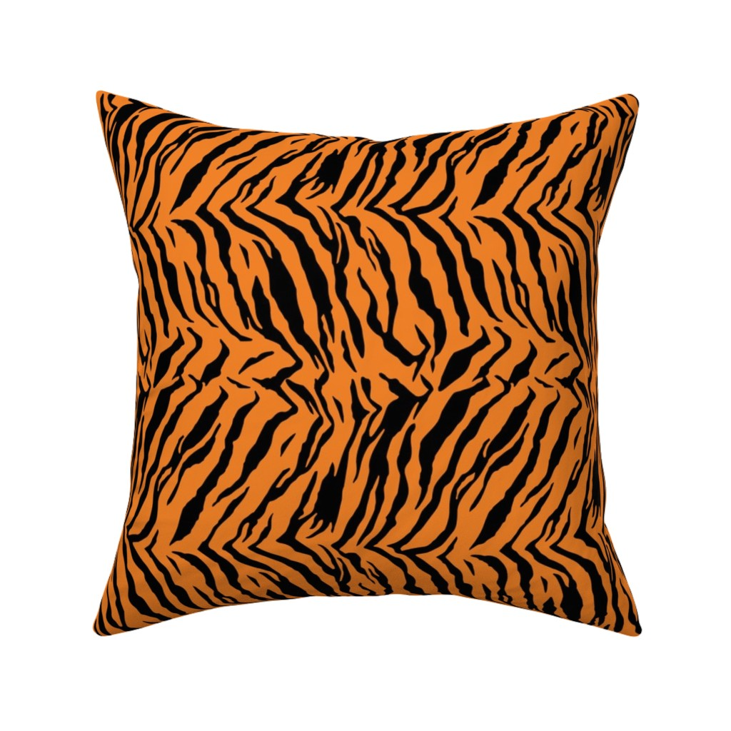 Catalan Throw Pillow featuring Tiger Halloween Costume Pattern by furbuddy