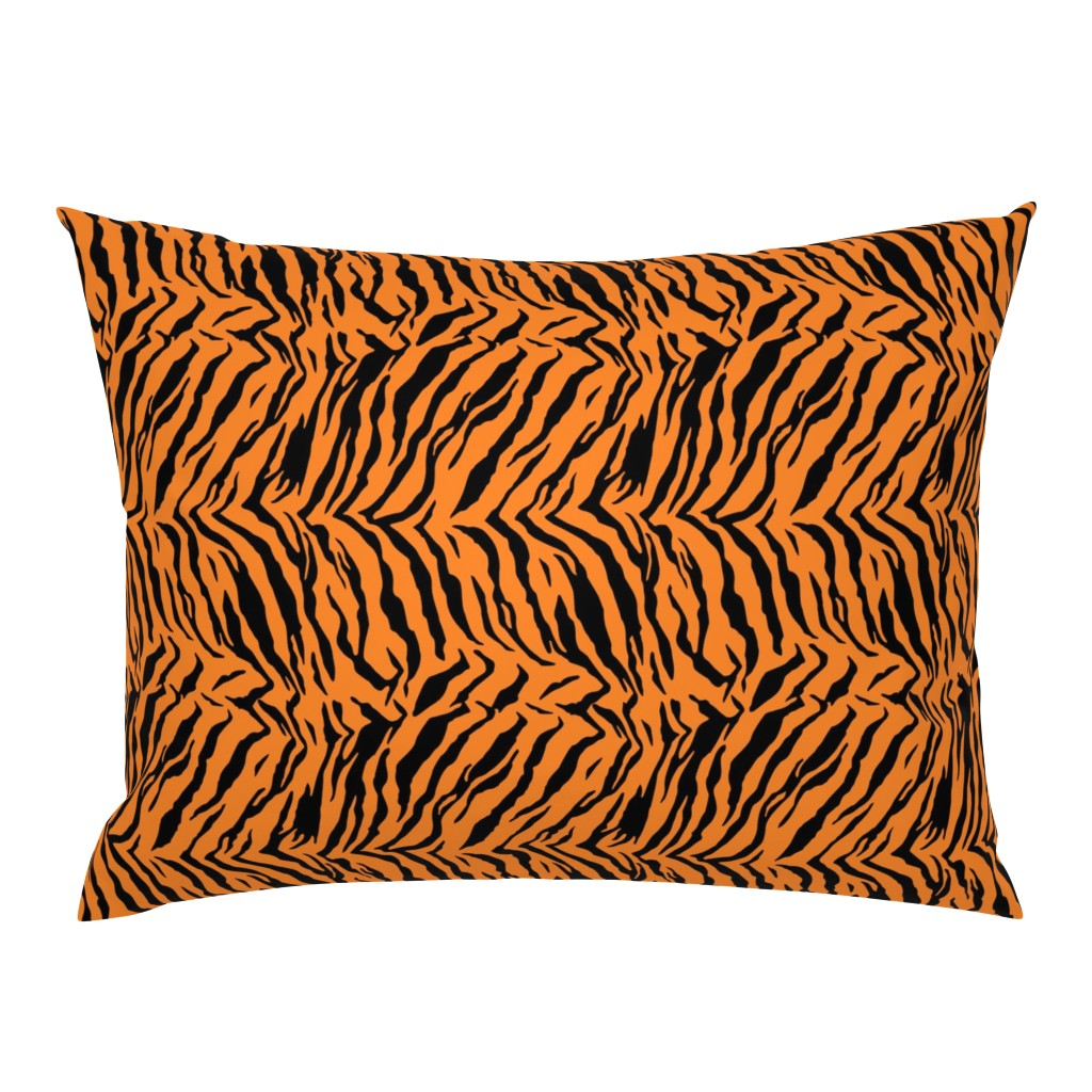 Campine Pillow Sham featuring Tiger Halloween Costume Pattern by furbuddy