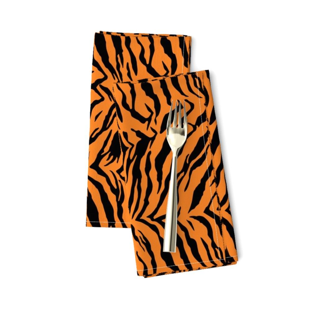Amarela Dinner Napkins featuring Tiger Halloween Costume Pattern by furbuddy