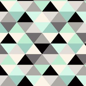 Black and white Triangle Geometric Mint
