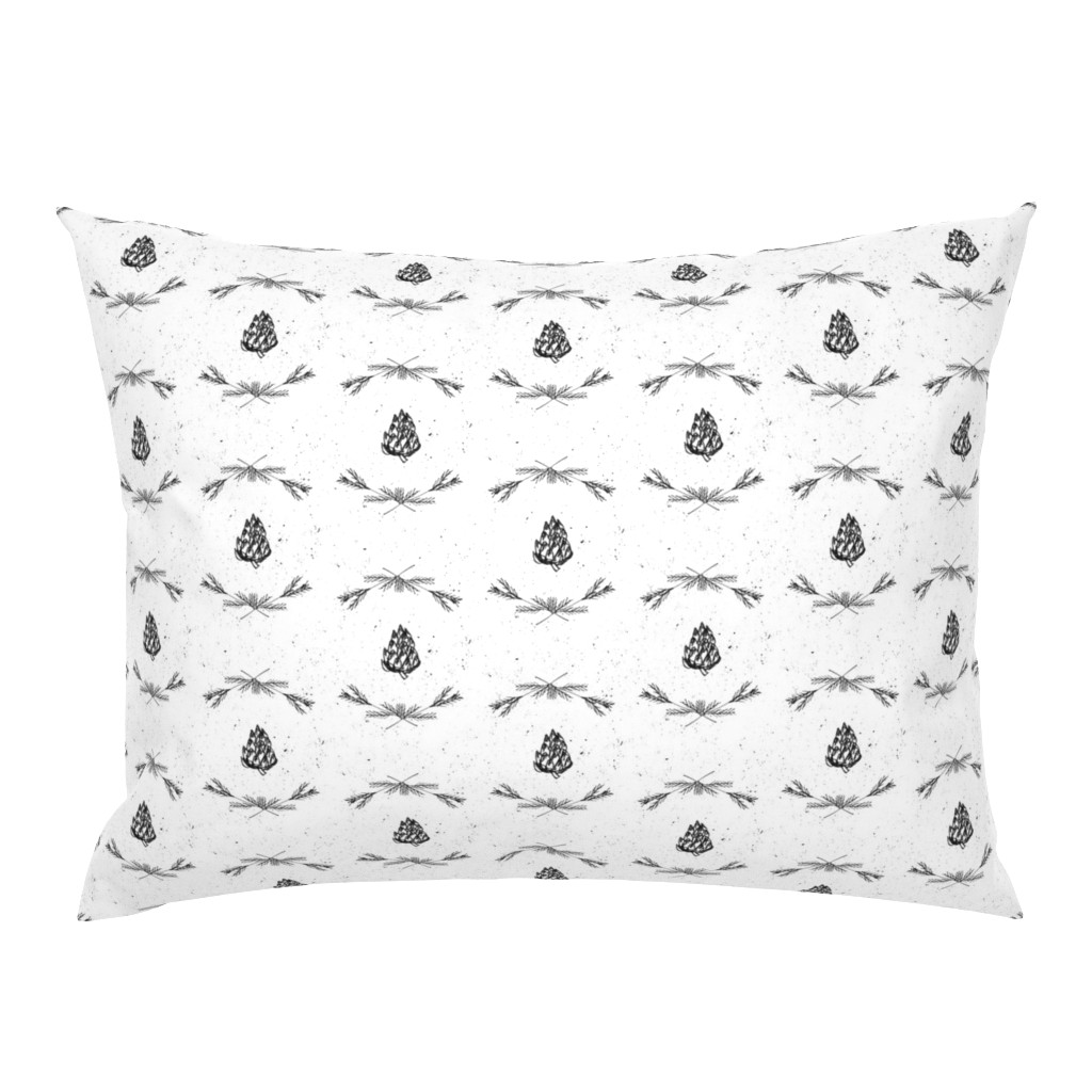 Campine Pillow Sham featuring Winter Elements Fabric by astrobarndesign