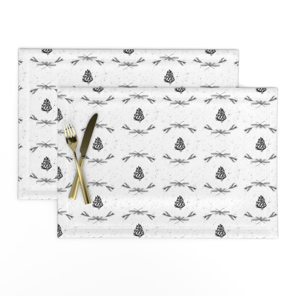 Lamona Cloth Placemats featuring Winter Elements Fabric by astrobarndesign