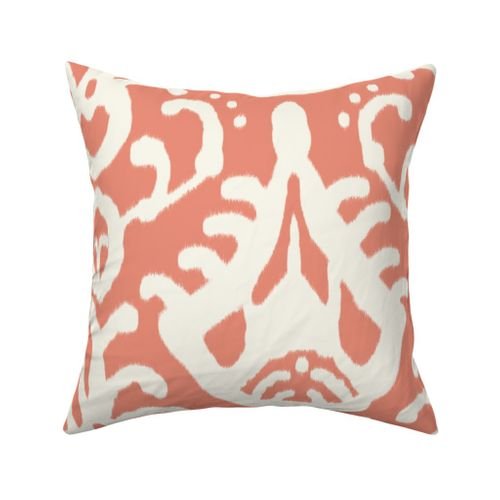 coral ikat fabric by domesticate on Spoonflower - custom fabric