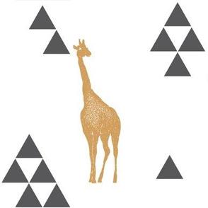 Geometric Giraffe in Gold