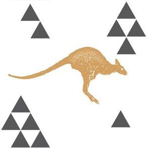 Geometric Kangaroo in Gold