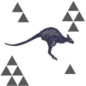 Geometric Kangaroo in Navy