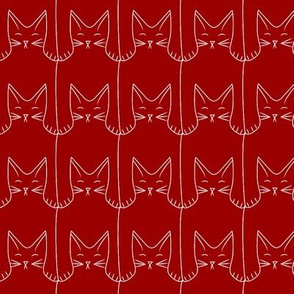 kitties (red background)