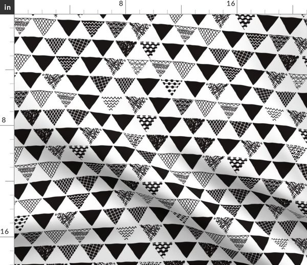 2140ff824fcba Fabric by the Yard. Geometric tribal aztec triangle black and white gender  neutral modern patterns
