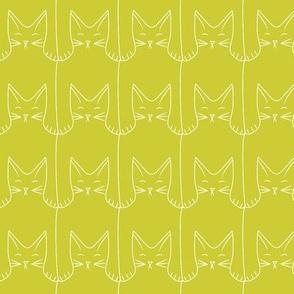 kitties (green background)