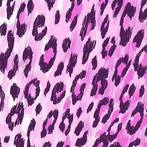 leopard fur in pink colors
