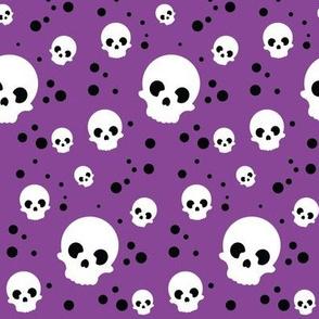 Wee Spooky Skulls - Purple
