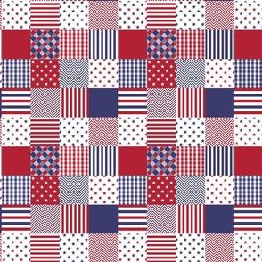 USA Mini Flag Patchwork Quilt Squares