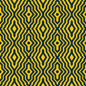 Dean's Blue Lines on Yellow (Univ. of Michigan)