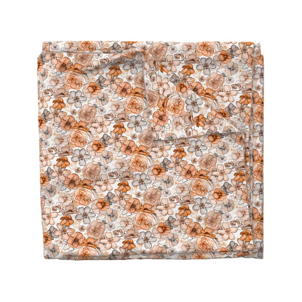 Wyandotte Duvet Cover featuring Floral Fall by Angel Gerardo by angelger28