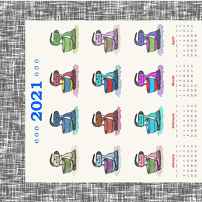 Color Evolution of the Mixmaster, tea towel calendar by Su_G_©SuSchaefer