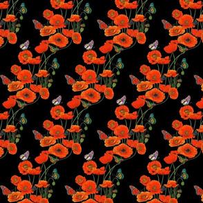 ORANGE_Poppies_on_Black