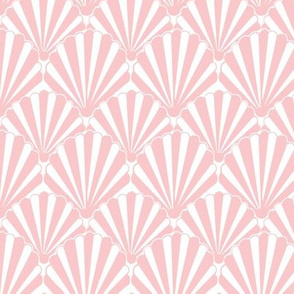 1920s Art Deco // Pink Shell / Seashell / Clamshell