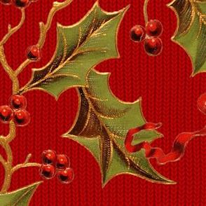 Christmas Holly ~ Richelieu Knit