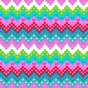 Scandinavian Holiday  chevron in bright colors