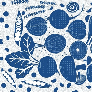 garden bounty (blue)