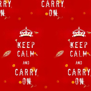 A 4 February 2011 - keep calm and carry on Fabric