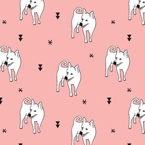 Adorable puppy dog illustration kids pattern design scandinavian style