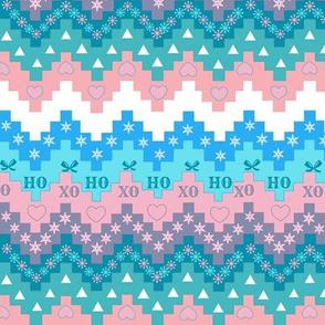 Scandinavian christmas  snowflake, Holidays, chevron, vintage Christmas, pink christmas, Christmas fabric