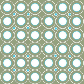 Circle Circle (Olive/Turquoise)