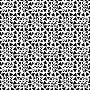 Tribal Triangles Black
