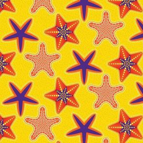 STARFISH Mosaic Inlaid Star Orange Purple