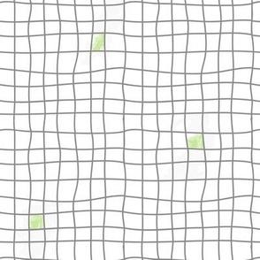 Grey Tiles & Green - Carreaux Gris & Vert