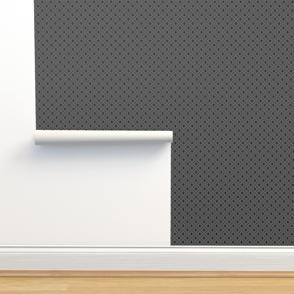 Isobar Durable Wallpaper featuring Delicately Speaking Black and White 1-Small by shala