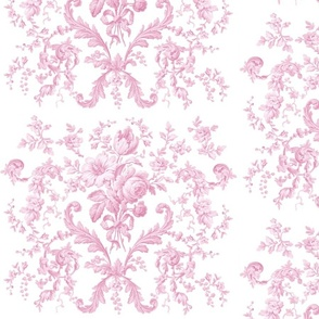 Faded Rococo in sorbet pink