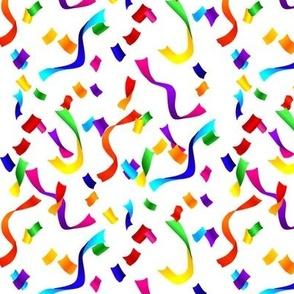 Confetti Multicolor On White 1:1