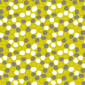 geometric blobs - lemon green