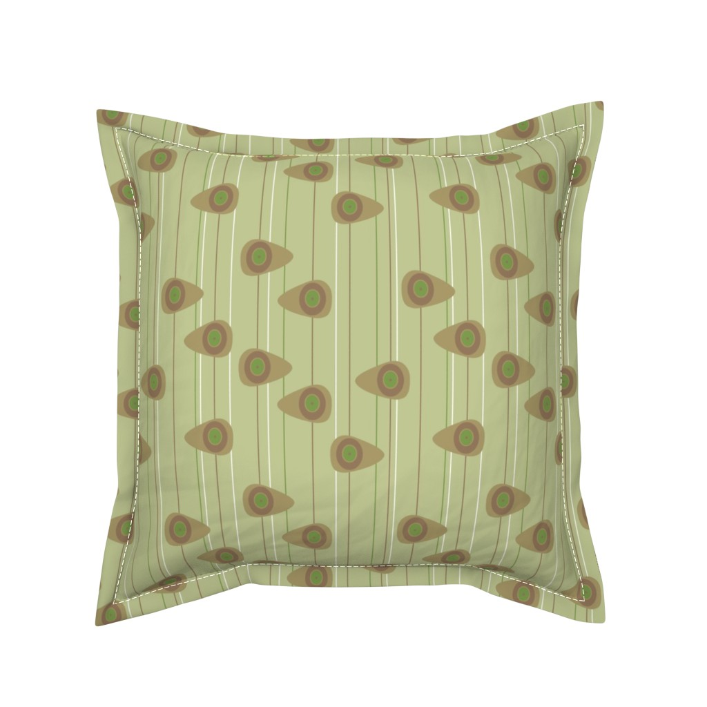 Serama Throw Pillow featuring Cell-ular Lounge - taupe by designergal