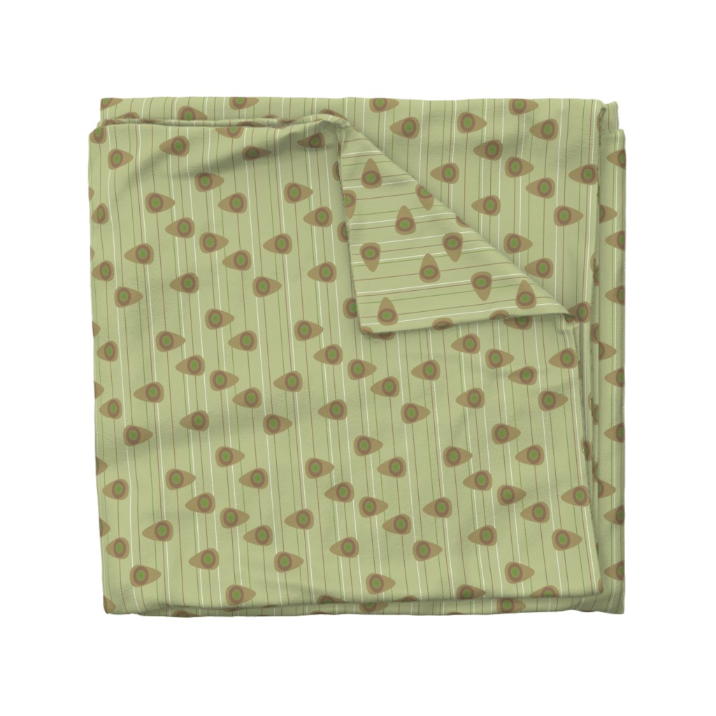 Wyandotte Duvet Cover featuring Cell-ular Lounge - taupe by designergal