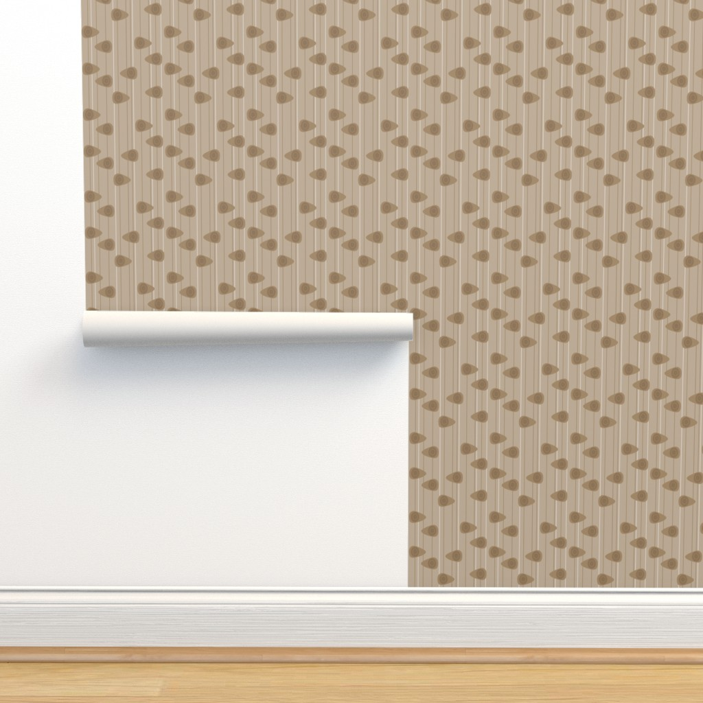 Isobar Durable Wallpaper featuring Cell-ular Lounge - brown mono by designergal