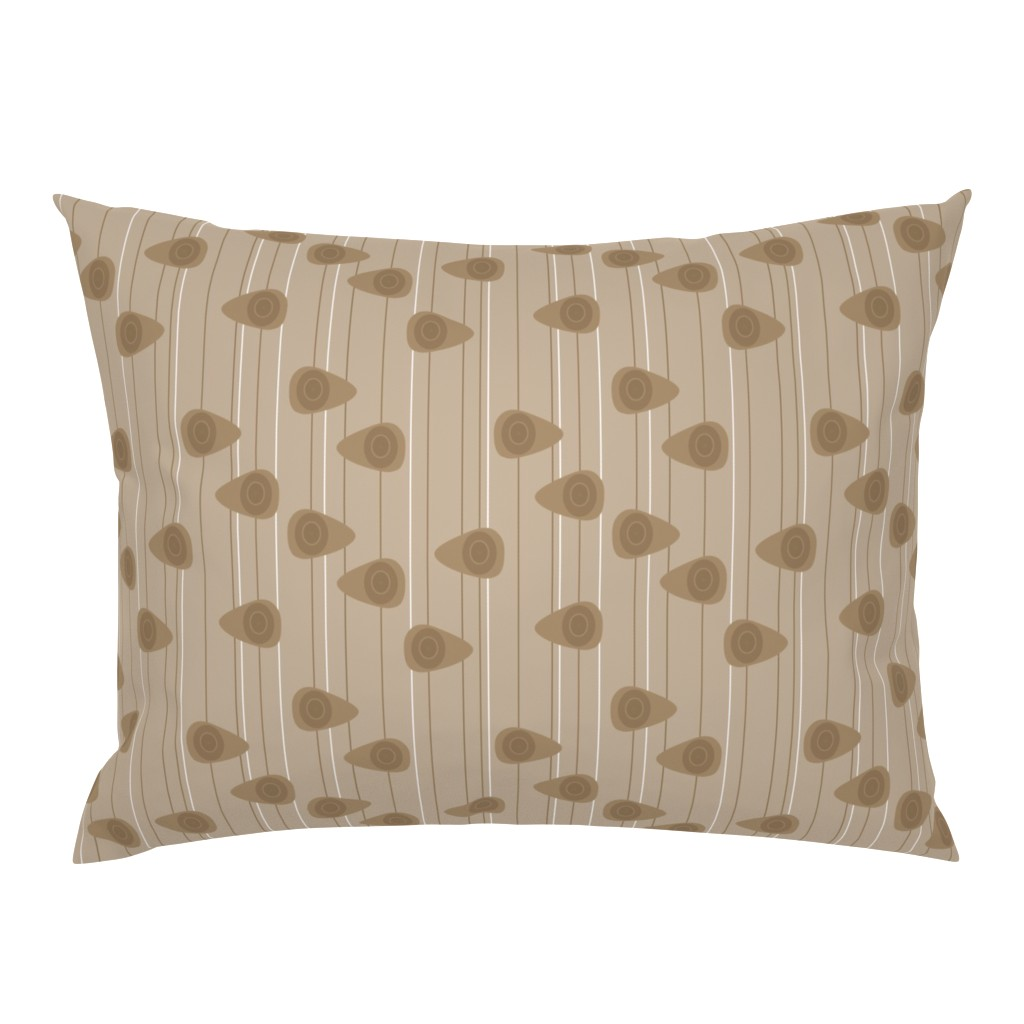 Campine Pillow Sham featuring Cell-ular Lounge - brown mono by designergal